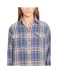 Polo Ralph Lauren - Blue Relaxed-fit Plaid Workshirt - Lyst