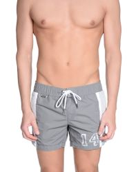 Bikkembergs - Gray Swimming Trunk for Men - Lyst
