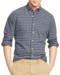 Ralph Lauren | Purple Polo Plaid Oxford Shirt for Men | Lyst
