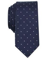 Original Penguin | Blue Perez Dot Skinny Tie for Men | Lyst