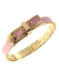 Anne Klein | Goldtone Pink Buckle Bangle Bracelet | Lyst