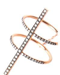 Diane Kordas - Pink Diamond & Rose-Gold Bar Ring - Lyst