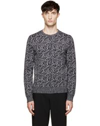 Calvin Klein | Black Static Knit Sweater for Men | Lyst