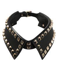Valentino | Black 'Rockstud' Collar | Lyst