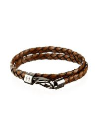 Tod's - Brown Woven Bracelet for Men - Lyst