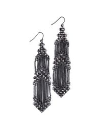 Forever 21 | Metallic Faux Stone Chandelier Earrings | Lyst