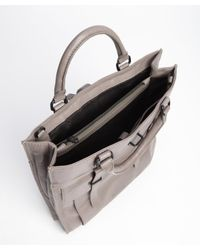 Ben Minkoff - Gray Grey Leather Gregger Briefcase Tote for Men - Lyst
