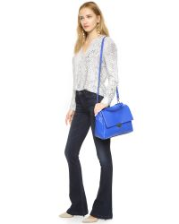 MILLY - Wythe Satchel - French Blue - Lyst