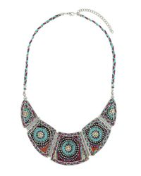 TOPSHOP | Purple Plaited Thread Necklace | Lyst