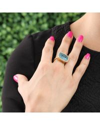 Irene Neuwirth | Blue Cushion Cut Aquamarine Ring | Lyst