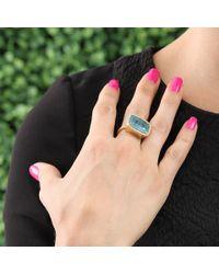 Irene Neuwirth - Blue Cushion Cut Aquamarine Ring - Lyst