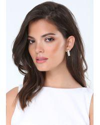 Bebe - Metallic Glitter Stud Earrings - Lyst
