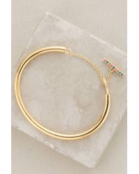 Elizabeth and James | Metallic Margaux Bangle | Lyst