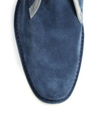Pierre Hardy - Blue Suede Chukka Boots for Men - Lyst