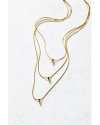 Urban Outfitters - Metallic 3 Charms Layering Necklace - Lyst