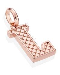 Monica Vinader - Pink Rose Gold-plated Alphabet Pendant L - Lyst