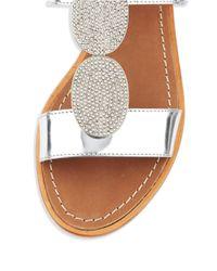 Kate Spade | Breana Metallic Specchio Leather Slingback Sandals | Lyst
