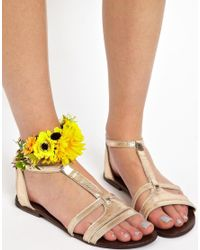 ASOS | Yellow Limited Edition Sunflower Anklet | Lyst