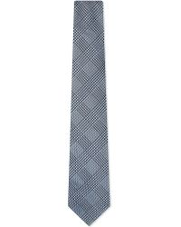 Paul Smith - Black Prince Of Wales Checked Silk Tie for Men - Lyst