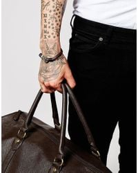 Seven London | Brown Hook Bracelet for Men | Lyst