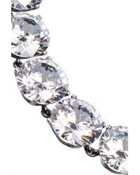 Bottega Veneta - Metallic Sterling Silver Cubic Zirconia Necklace - Lyst