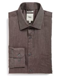 W.r.k. | Purple Extra Trim Fit Stretch Houndstooth Dress Shirt for Men | Lyst