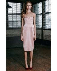 Katie Ermilio - Pink Boned Bodice Party Dress - Lyst
