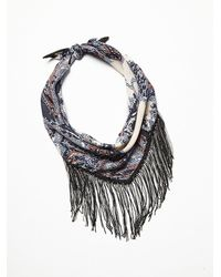 Free People - Purple Womens Chase Me Chain Bandana - Lyst