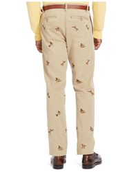Polo Ralph Lauren | Natural Straight-fit Embroidered Bedford Chino Pants for Men | Lyst