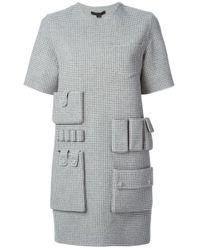 Alexander Wang | Gray Goddess Satin-jersey Dress | Lyst