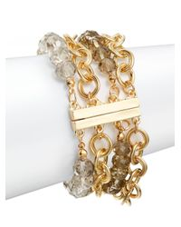 Saks Fifth Avenue | Metallic Beaded & Chain Multi Strand Bracelet | Lyst