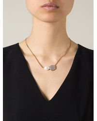Wouters & Hendrix | Gray Grey Agate And Pearl Necklace | Lyst
