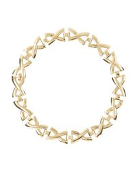 River Island - Yellow Gold Tone Repeat Cross Short Necklace - Lyst