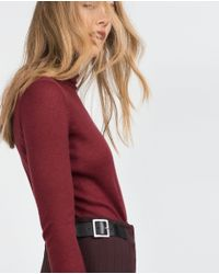 Zara | Purple High Neck Sweater | Lyst