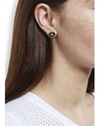 Vivienne Westwood - Metallic Gunmetal Embossed Orb Earrings - Lyst