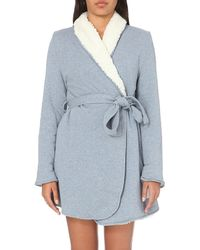 Splendid | Blue Cozy Sherpa Cotton-blend Robe | Lyst