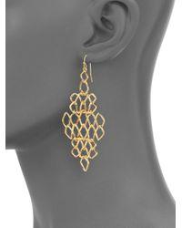 Alexis Bittar - Metallic Barbed Wire Drop Earrings - Lyst