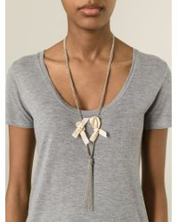 Forte Forte | Metallic Tassel Necklace | Lyst