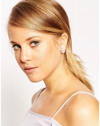 ASOS   Purple Rose Double Earrings   Lyst