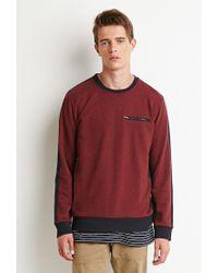 Forever 21   Purple Colorblocked Zip-pocket Sweatshirt   Lyst