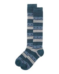 Toast | Blue Diamond Stripe Socks | Lyst