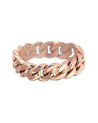 Kismet by Milka | Pink 'retro' Curb Chain Ring | Lyst