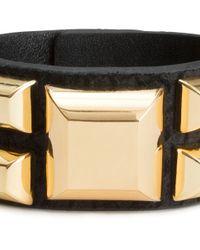 H&M - Metallic Leather Bracelet - Lyst