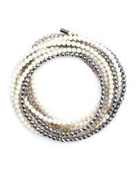 Brunello Cucinelli | White Pearl Necklace | Lyst