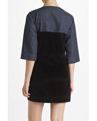 Marni | Blue Denim Soft Wash Panelled Dress | Lyst