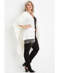 Forever 21 - White Plus Size Fringed Shawl - Lyst