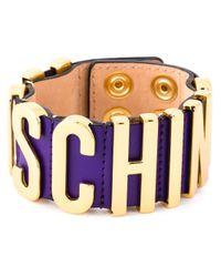 Moschino | Purple Logo Plaque Bracelet | Lyst