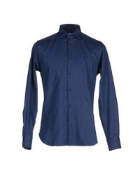 Carrel | Blue Shirt for Men | Lyst