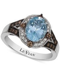 Le Vian | Brown White Topaz And Chocolate Quartz Ring (2-3/4 Ct. T.w.) In 14k White Gold | Lyst