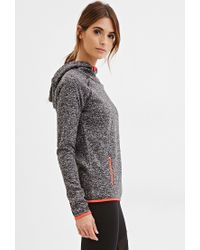 Forever 21 | Gray Active Longline Fleece Hoodie You've Been Added To The Waitlist | Lyst